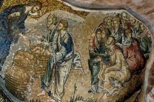 Multiplicación de los panes y los paces-Iglesia de San Salvador, Chora (Estambul) (foto D. Osseman) (1)